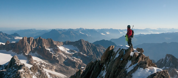 On the Summit of the Tete Noire, French Alps