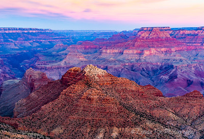 Sunset Colors Over Grand Canyon