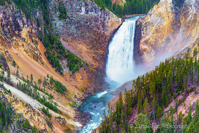 Raging Waterfall In Canyon Bed