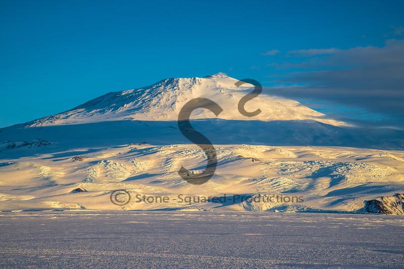 Glaciated Mount Erebus