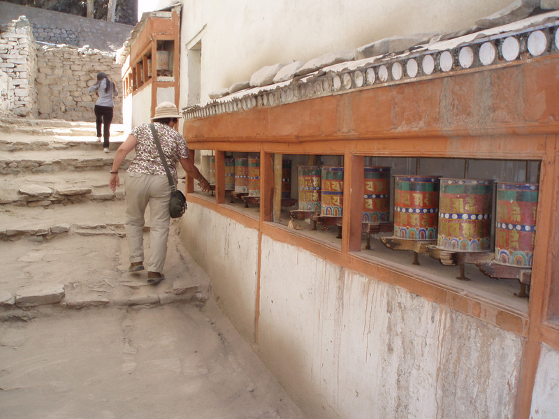 more prayer wheels, Hemis goempa, Ladakh