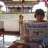 catching up on world news, Bhaktapur, Nepal
