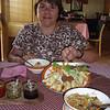 the classic Tibetan meal - momos and thukpa (soup)