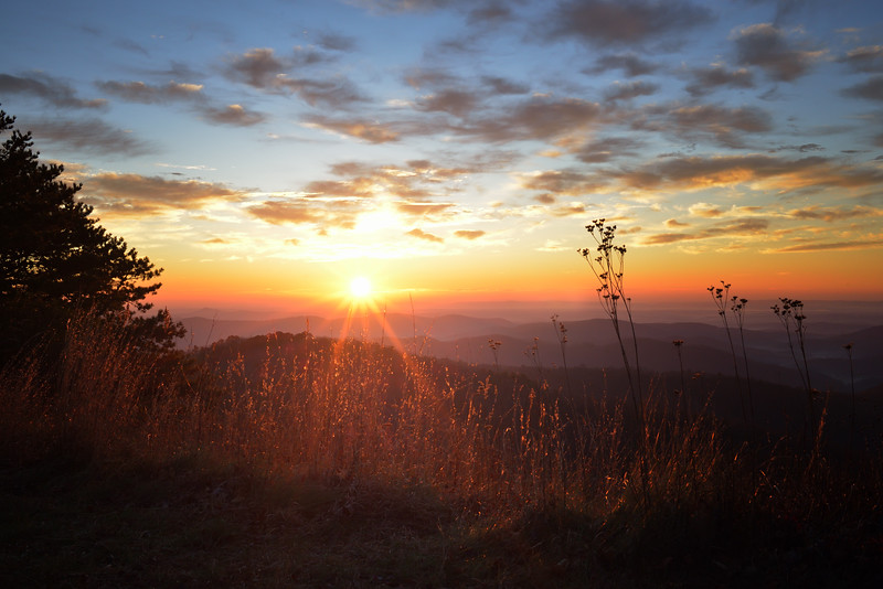 Sunrise Over the Blue Ridge Parkway