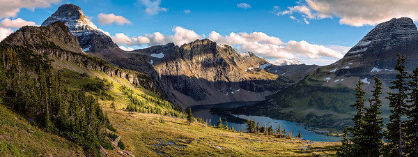 "Hidden Lake Lookout Pano 18""x48"" Please contact me for Special Order"