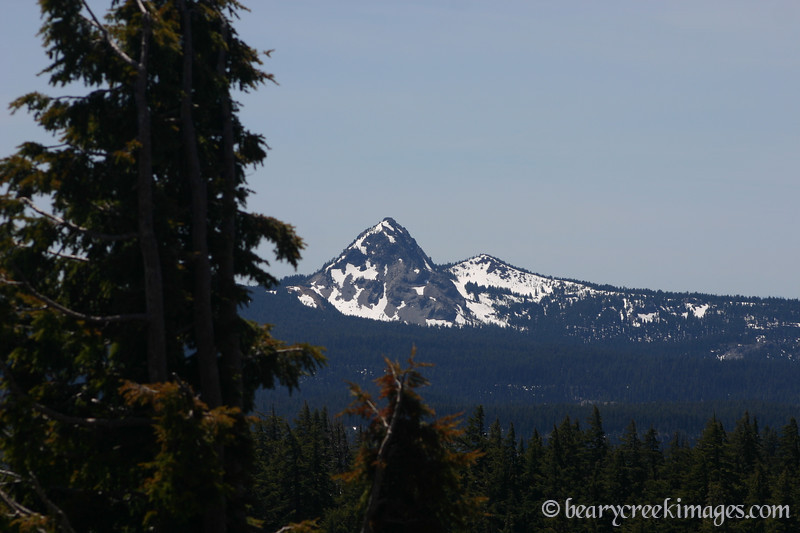 Mount Thielson from Crater Lake Rim, Oregon