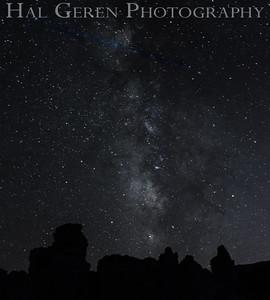 Milky Way and Tufa Mono Lake, California 1410S-MS7