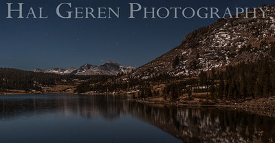 Full Moon Light over Tioga Lake Yosemite, California 1310S-T5