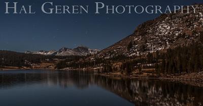 Full Moon Light over Tioga Lake Yosemite, California 1310S-T5