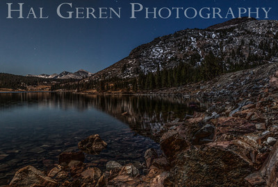 Full Moon Light over Tioga Lake Yosemite, California 1310S-T3