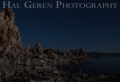 Tufa with the Big Dipper Mono Lake, Calfornia 1310S-MTWBD