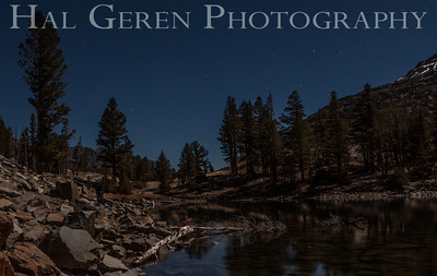 Full Moon Light over Tioga Lake Yosemite, California 1310S-T4