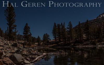 Full Moon Light over Tioga Lake Yosemite, California 1310S-T4
