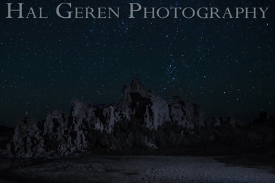Milky Way over Tufa Mono Lake, California 1207S-S7