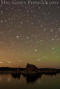 Stars over Mono Lake Tufa Eastern Sierra, California 1110S-MLS1