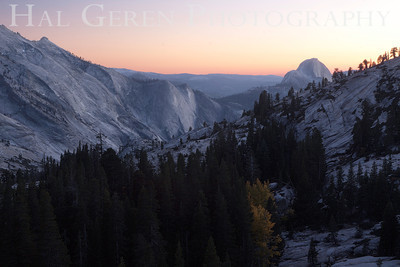 Sunset over Half Dome Olmsted Point Eastern Sierra, California 1110S-OPHDS4