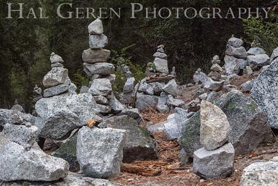 Rock Stacks near Mirror Lake (tourist fad) Yosemite, California 1204Y-RS1