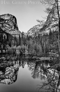 Mirror Lake; Mount Watkins in the background Yosemite, California 1204Y-MLH2BW1