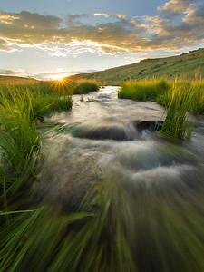 Sunset, East Fork Black River, White Mountains