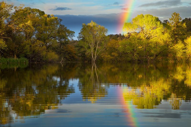 Rainbow at Granite Basin Lake