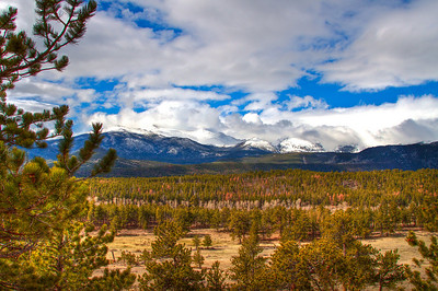 Rocky Mountain National Park, not far after entering park  from Estes Park.