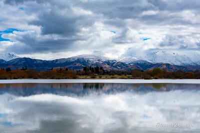 lake Opuha blue tones