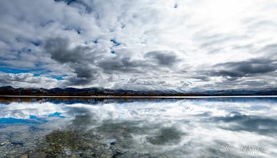 lake Opuha cloud  reflections