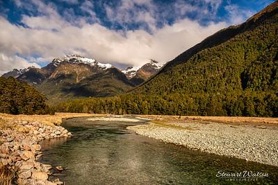 The Eglinton River near Mirror lakes in Fiordland National Park