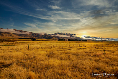 Off the main highways and on gravel roads South east of Lake Ohau in th middle of beautiful nowhere