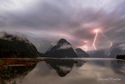 Milford Sound lightening