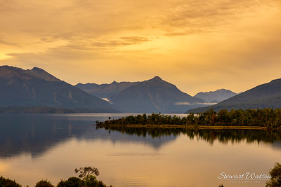 Lake Te Anau sunset