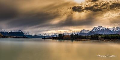 Lake Tekapo cloudscape Panorama