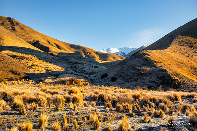 Frost in the shade in Lindis Pass