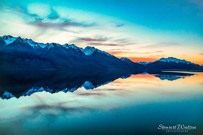 Lake Wakatipu after sunset
