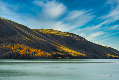Light and shade on the hills at Lake Tekapo