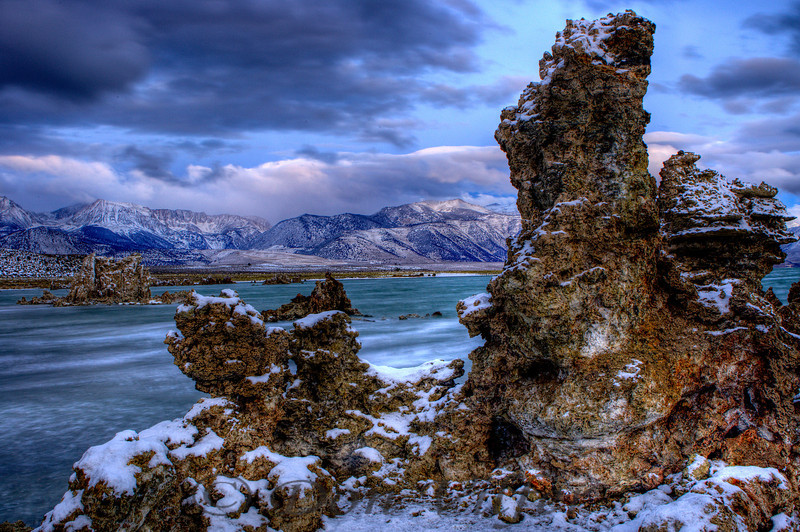This is an HDR capture of tufa formations at Mono Lake, California.