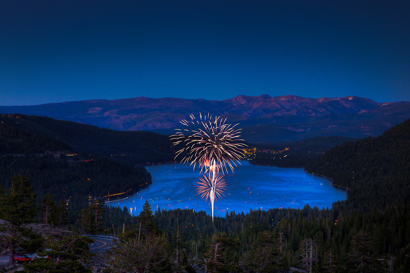 Fireworks over Donner