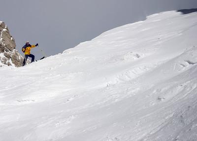 2006, descent of Sass Pordoi fork, Dolomites, Italy