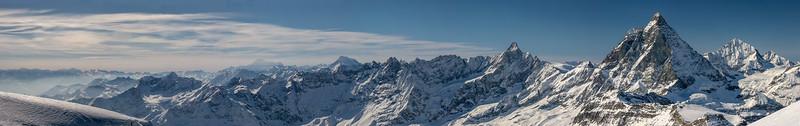 Dent d'Herens, Matterhorn and Dent Blanche, Zermatt, Switzerland