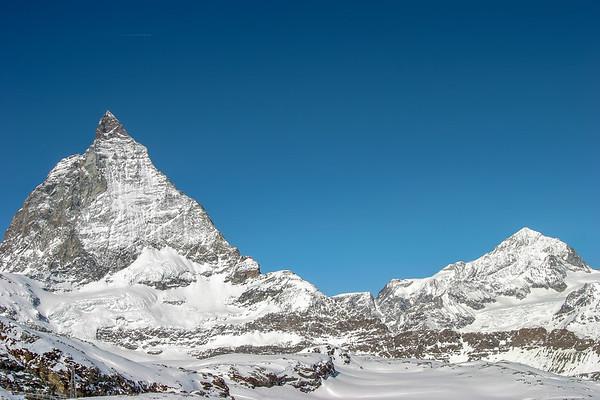 Matterhorn and Dent Banche, Zermatt, Switzerland