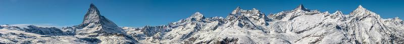 Matterhorn and Zinalrothorn range, Zermatt, Switzerland