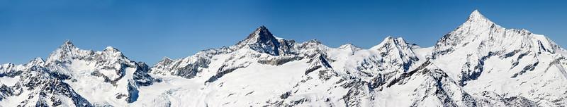 Zinalrothorn range, Zermatt, Switzerland