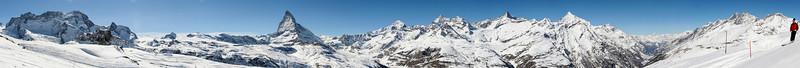 Breithorn, Matterhorn and Zinalrothorn, Zermatt, Switzerland