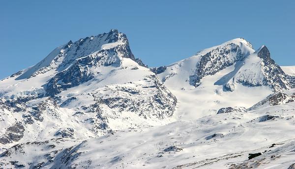 Rimpfishhorn and Strahlhorn, Zermatt, Switzerland
