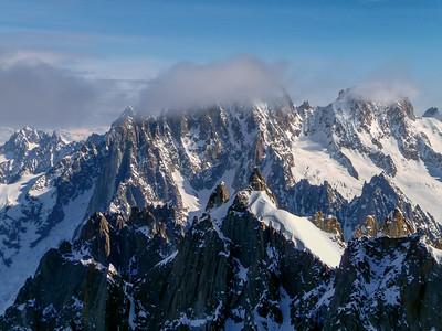 Aiguille Verte, Mont Blanc range, France