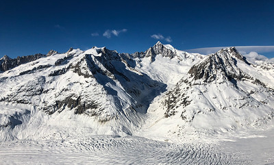 Aletschhorn and Aletsch Glacier, Switzerland