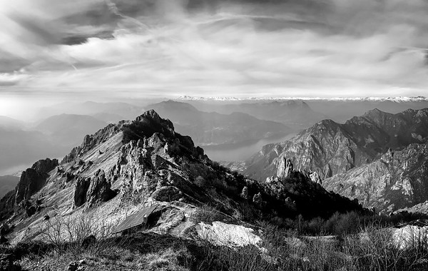 View from Rosalba hut, Grigna Meridionale, Italy