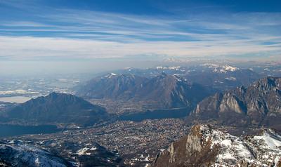 Panorama dalla cima del Resegone