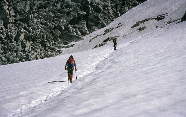 Climbing Cima di Castello, Italy