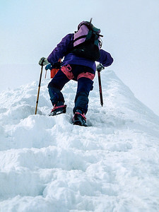 Climbing Piz Palù, Switzerland